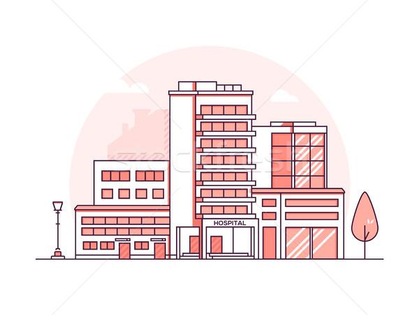 病院 建物 現代 薄い 行 デザイン ストックフォト © Decorwithme