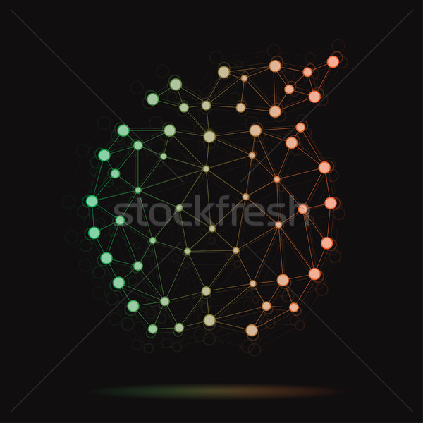 Illustration of modern vector atomic apple Stock photo © Decorwithme