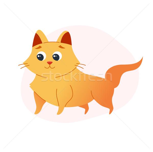 Cat - modern vector flat illustration. Stock photo © Decorwithme