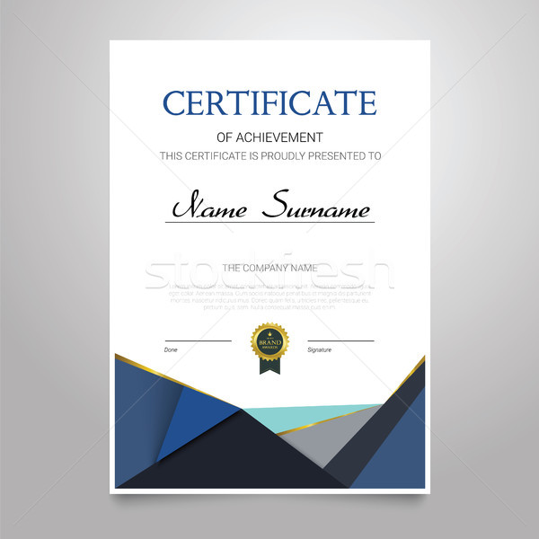 Certificate - vertical elegant vector document Stock photo © Decorwithme