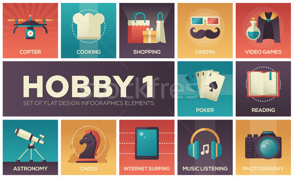 Hobby design infographie cuisson Photo stock © Decorwithme