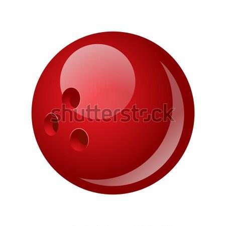 Bowling golyó modern vektor valósághű izolált tárgy Stock fotó © Decorwithme