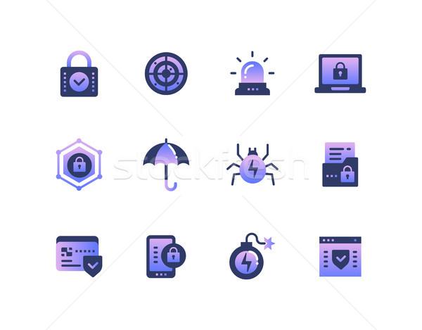 情報 セキュリティ データ保護 セット デザイン スタイル ストックフォト © Decorwithme