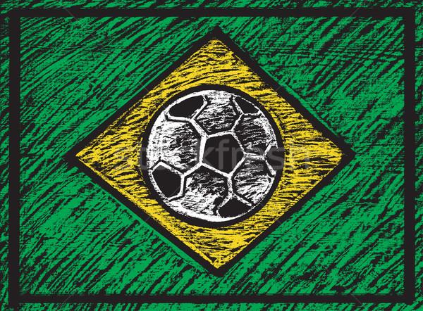 Illustration of chalked brasilian composition Stock photo © Decorwithme