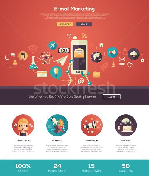 Stockfoto: E-mail · marketing · website · banner · webdesign