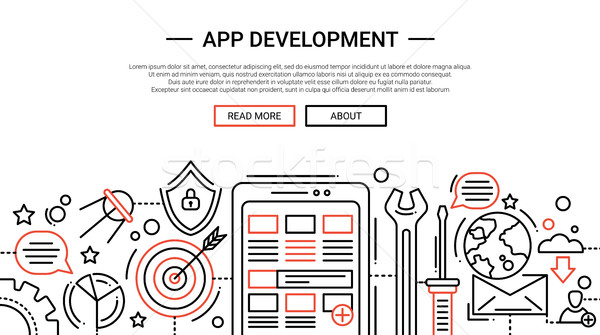 App Development - line design website banner temlate Stock photo © Decorwithme
