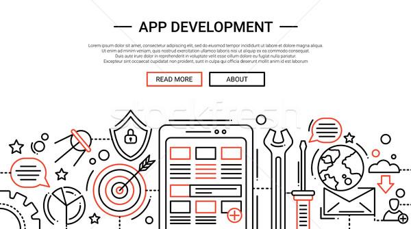 App Development - line design website banner temlate Stock photo © Decorwithme