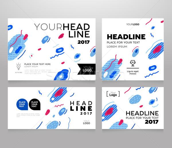 Headline Banner - vector template illustration poster Stock photo © Decorwithme