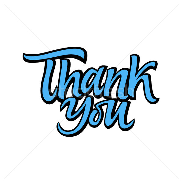 Thank you - vector drawn brush lettering Stock photo © Decorwithme