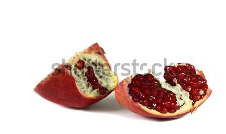 гранат изолированный белый фрукты красный Sweet Сток-фото © DedMorozz