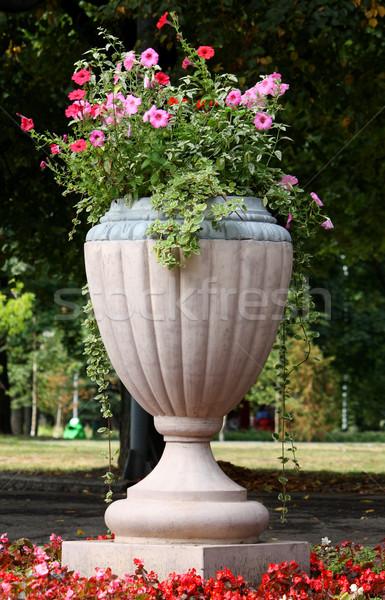 Big vase in park Stock photo © DedMorozz