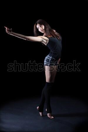 Сток-фото: девушки · танцы · бальный · Dance · темно · женщины