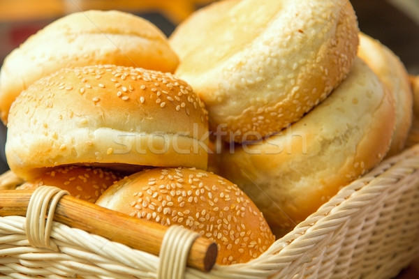 хлеб семян корзины продовольствие группа семени Сток-фото © DedMorozz