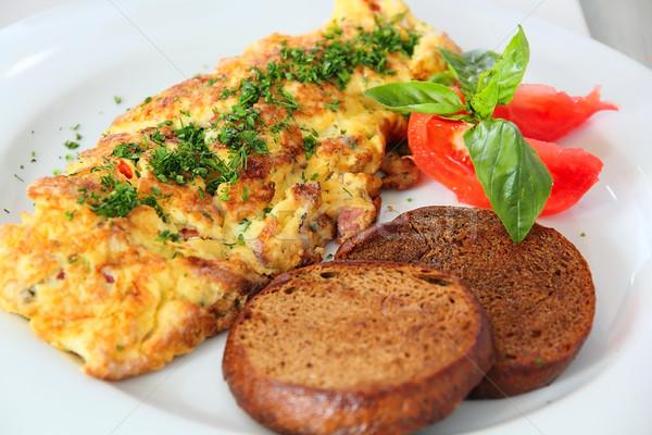 тоста таблице гриль продовольствие пластина завтрак Сток-фото © DedMorozz