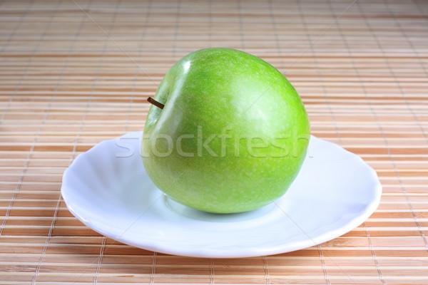зеленый яблоко блюдце текстуры продовольствие Сток-фото © DedMorozz
