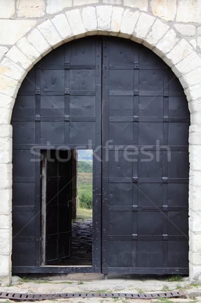 большой железной замок двери строительство Сток-фото © DedMorozz