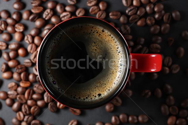 Кубок чашку кофе кофе бобов вокруг пить Сток-фото © DedMorozz