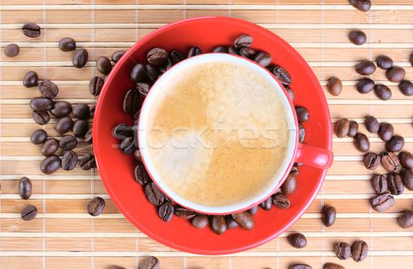 Кубок кофе бобов группа Сток-фото © DedMorozz
