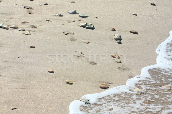 следов пляж камней морем лет песок Сток-фото © DedMorozz