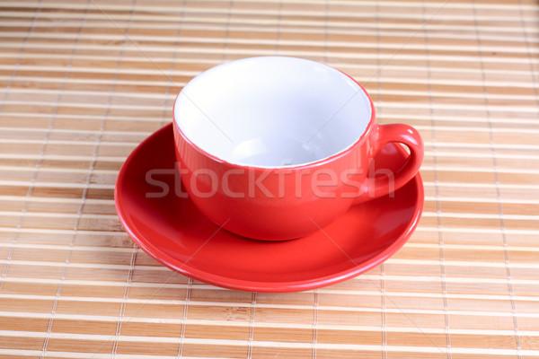 пусто красный Кубок пластина Сток-фото © DedMorozz