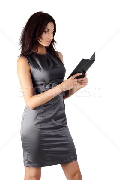 чтение электронных книга изолированный компьютер Сток-фото © DedMorozz