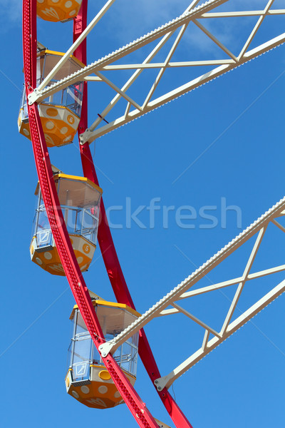 Some cabins at Ferris Wheel  Stock photo © DedMorozz