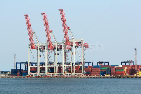 Carga doca grande negócio rio transporte Foto stock © DedMorozz