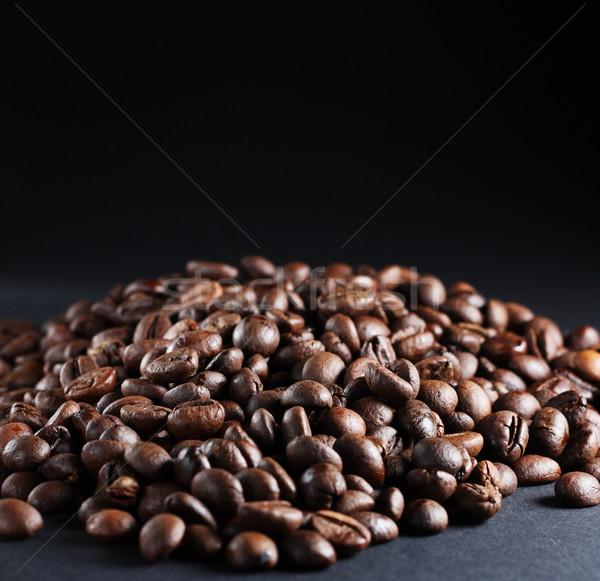 кофе темно черный семени бобов Сток-фото © DedMorozz