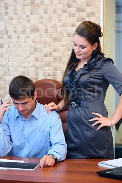 девушки человека рабочих служба документы Сток-фото © DedMorozz
