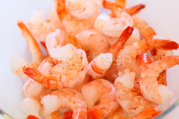 Preparado tigre comida vermelho refeição macro Foto stock © DedMorozz