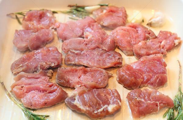 мяса Ломтики стейк группа жира Сток-фото © DedMorozz