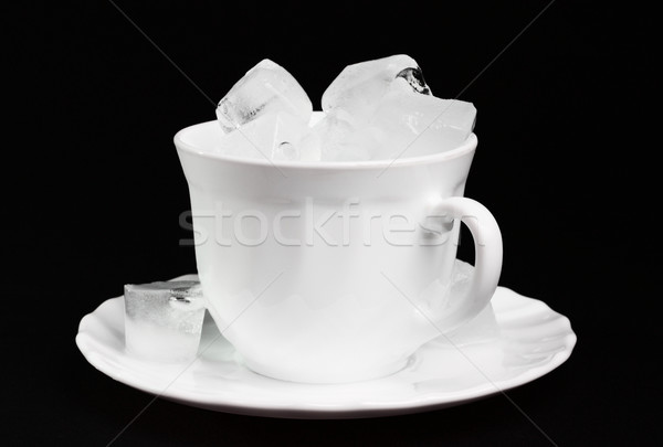 Ice cubes inside a cup Stock photo © DedMorozz