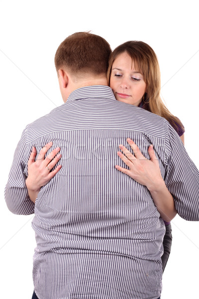 Girl embraces man Stock photo © DedMorozz
