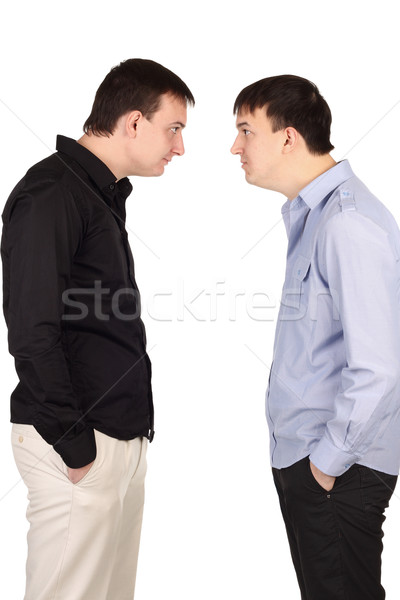 Two guys looking at each other Stock photo © DedMorozz