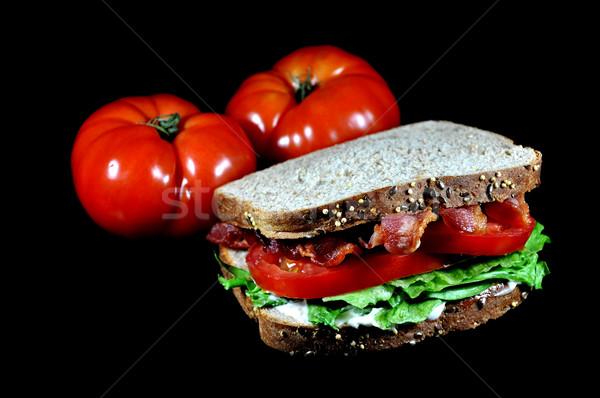 Blt sanduíche tomates isolado bacon alface Foto stock © dehooks