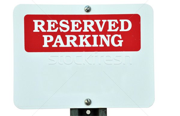Blank Reserved Parking Sign Stock photo © dehooks