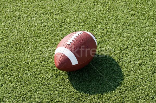 Amerikai futballpálya futball ül mező délután Stock fotó © dehooks