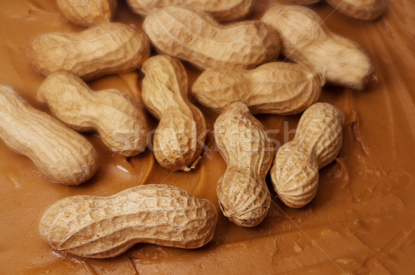 Raw Peanuts in Peanut Butter Stock photo © dehooks