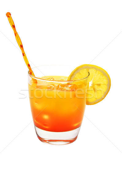 Tequila Sunrise, Lemon, Isolated, Clipping Path Stock photo © dehooks