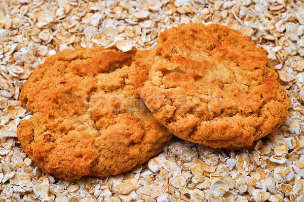 Cookies два кровать продовольствие Sweet Сток-фото © dehooks