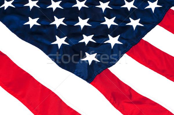 Amerikai zászló közelkép csillagok csíkok kék szabad Stock fotó © dehooks
