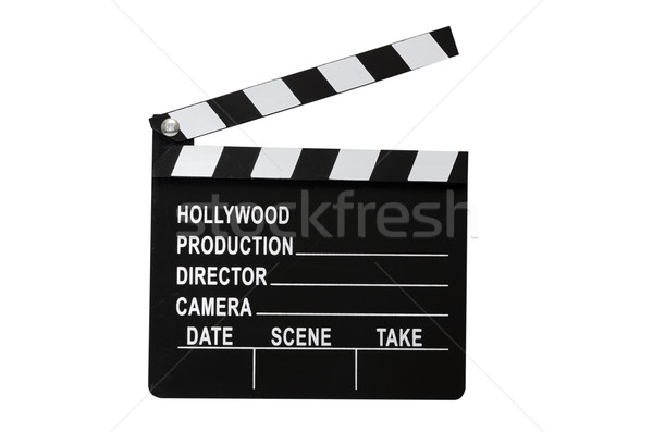 Movie Clapboard Isolated Stock photo © dehooks