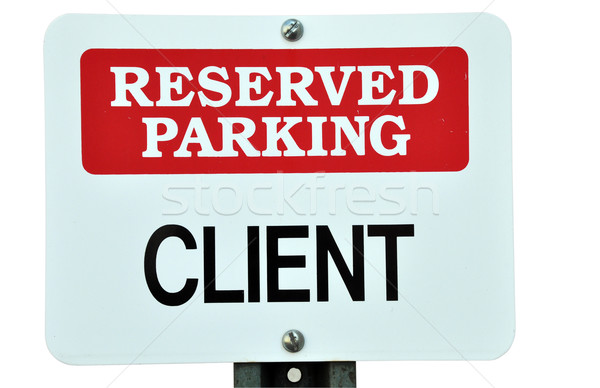 Reserved Parking Sign Stock photo © dehooks