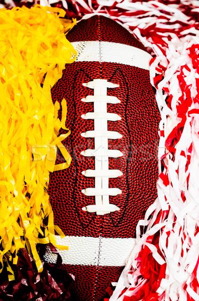 American Football and Pom Poms Stock photo © dehooks