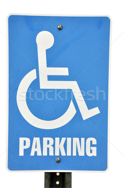 Handicapped Parking Sign Isolated Stock photo © dehooks