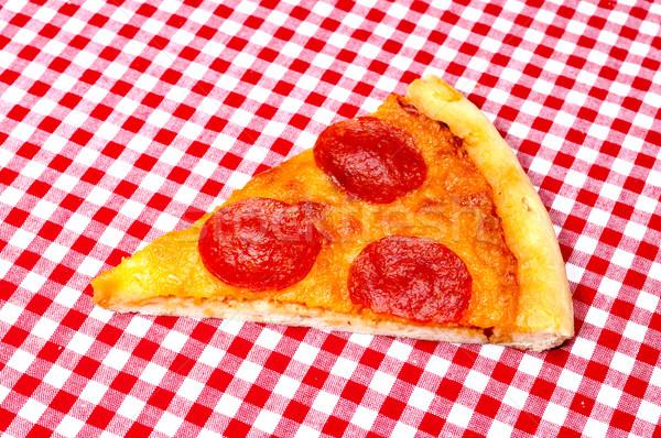 ペパロニ 赤 ピザ スペース ディナー ストックフォト © dehooks