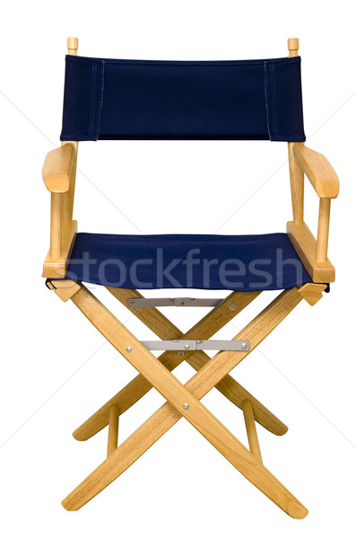 Stock photo: Director's Chair Isolated