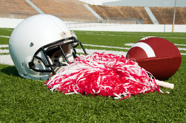 American Football, Helmet, and Pom Poms Stock photo © dehooks