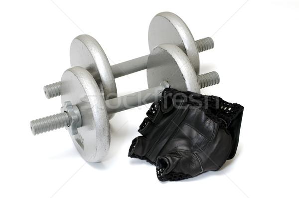 Training handschoenen twee geïsoleerd witte Stockfoto © dehooks