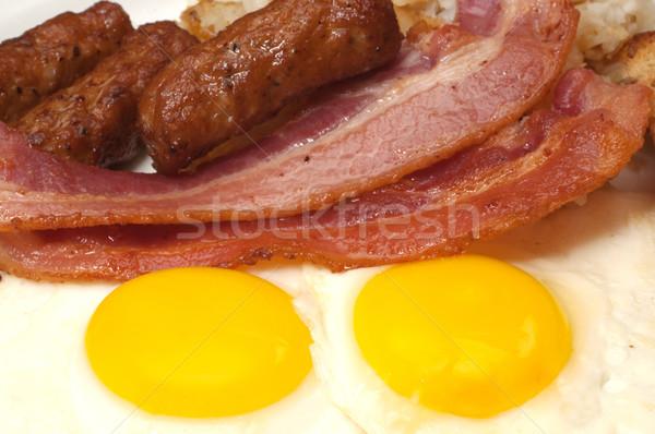Desayuno placa huevos soleado lado hasta Foto stock © dehooks